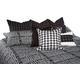 AICO Lucianna 9-pc Queen Comforter Set in Nori BCS-QS09-LUCIAN-NOI