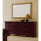 ESF Furniture Miss Italia Leather Rectangular Mirror in Matte