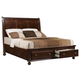 Crown Mark Furniture Portsmouth Storage King Bed in Rich Cherry