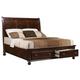 Crown Mark Furniture Portsmouth Storage Queen Bed in Rich Cherry