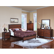 New Classic Bishop Panel Bedroom Set in Chestnut & Ginger