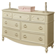 Legacy Classic Kids Harmony 7 Drawer Dresser in Antique Linen White 4910-1100 SPECIAL