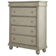 Liberty Furniture Rustic Traditions 5 Drawer Chest in Rustic White 689-BR41