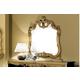 ESF Furniture Barocco Mirror in Black w/ Gold