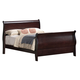 Coaster Louis Philippe Queen Sleigh Bed in Cappuccino 203981NQ
