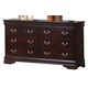 Coaster Louis Philippe Dresser in Cappuccino 203983N