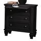 Coaster Sandy Beach Nightstand in Black 201322