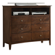 Coaster Tamara Media Chest in Walnut 201156