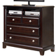 Ridgley Media Chest in Dark Brown