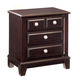 Ridgley Nightstand in Dark Brown CLEARANCE