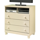 Cottage Retreat Media Chest in Cream