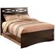 X-cess Queen Panel Bed in Merlot