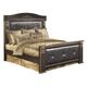 Coal Creek Queen Mansion Bed in Dark Brown