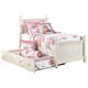 Cottage Retreat Twin Cream Poster Bed + Trundle