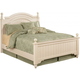 Cottage Retreat Queen Poster Bed in Cream