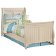 Cottage Retreat Twin Sleigh Bed in Cream