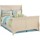 Cottage Retreat Full Sleigh Bed in Cream