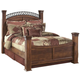 Timberline Queen Poster Bed in Cherry