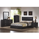 Coaster Dylan Platform Bedroom Set in Black 201401