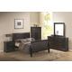 Coaster Louis Philippe Sleigh Bedroom Set in Black 201071