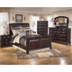 Ridgley 4-Piece Sleigh Bedroom Set in Dark Brown