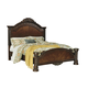 North Shore King Panel Bed in Dark Wood