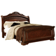 North Shore King Sleigh Bed in Dark Wood CLEARANCE