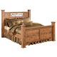 Bittersweet Queen Poster Bed in Pine Grain