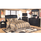 Harmony 4-Piece Sleigh Headboard Only Bedroom Set in Dark Brown