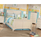 Cottage Retreat 4-Piece Sleigh Bedroom Set in Cream