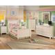 Cottage Retreat 4-Piece Poster Bedroom Set in Cream