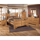 Bittersweet 4-Piece Poster Bedroom Set in Pine Grain