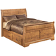Bittersweet Queen Sleigh Bed with Underbed Storage in Pine Grain