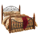 Wyatt California King Poster Bed in Cherry