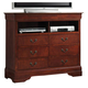 Coaster Louis Philippe TV Dresser in Cherry 200436 CLEARANCE