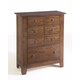 Broyhill Attic Heirlooms Drawer Chest in Rustic Oak 4399-40
