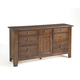 Broyhill Attic Heirlooms Door Dresser in Rustic Oak 4399-32