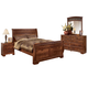 Timberline 4-Piece Queen Sleigh Bedroom Set in Cherry