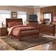 Wilmington 4-Piece Sleigh Bedroom Set in Dark Red/Brown