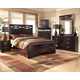 X-cess Modern Bedroom Set in Merlot