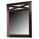 X-cess Dresser Mirror in Merlot