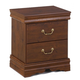 Wilmington Nightstand in Dark Red/Brown