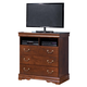 Wilmington Media Chest in Dark Red/Brown CLEARANCE