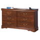 Wilmington Dresser in Dark Red/Brown