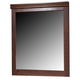 Wilmington Mirror in Dark Red/Brown