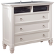 Prentice Media Chest in White