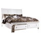 Prentice Cal King Sleigh Bed with Storage Footboard in White
