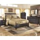 Kira Panel Bedroom Set in Black