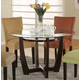 Coaster Bloomfield Round Dining Table in Cappuccino 101490E