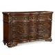 A.R.T. Regal 12 Drawer Triple Dresser with Stone Top in Distressed Cherry CLEARANCE